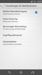 Sony Xperia E4G - Netzwerk - Netzwerkeinstellungen ändern - 6 / 8