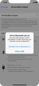 Apple iPhone XS - Internet - Stel mobiele hotspot in - Stap 7