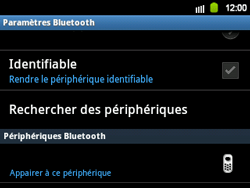 Samsung B5510 Galaxy TXT - Bluetooth - connexion Bluetooth - Étape 10