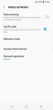 Samsung Galaxy S8 - Network - Manual network selection - Step 6