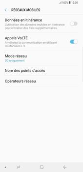 Samsung Galaxy S8 Plus - Android Oreo - Réseau - Changer mode réseau - Étape 8