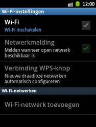Samsung S5300 Galaxy Pocket - Wifi - handmatig instellen - Stap 6