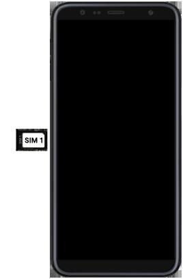 Samsung Galaxy J6 Plus - Appareil - comment insérer une carte SIM - Étape 5