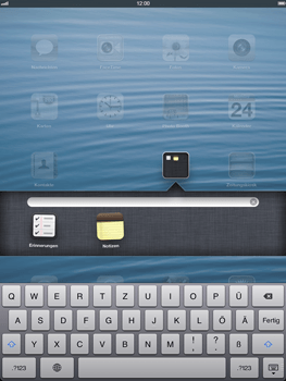 Apple iPad Retina iOS 7 - Startanleitung - Personalisieren der Startseite - Schritt 5