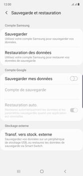 Samsung Galaxy Note10 - Données - créer une sauvegarde avec votre compte - Étape 6