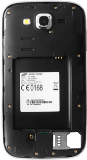 Samsung I9060 Galaxy Grand Neo - SIM-Karte - Einlegen - Schritt 7