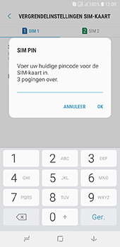 Samsung galaxy-a6-sm-a600fn-ds - Beveiliging en ouderlijk toezicht - Hoe wijzig ik mijn SIM PIN-code - Stap 9
