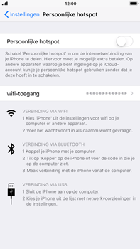 Apple iPhone 7 Plus iOS 11 - WiFi - WiFi hotspot instellen - Stap 4