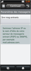 LG BL40 New Chocolate - E-mail - Configuration manuelle - Étape 8