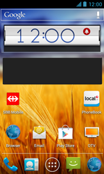 ZTE Blade III - Getting started - Installing widgets and applications on your start screen - Step 7