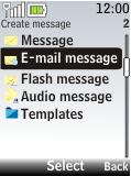 Nokia 2720 fold - E-mail - Sending emails - Step 5