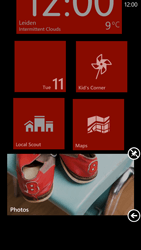 HTC Windows Phone 8X - Getting started - Personalising your Start screen - Step 9
