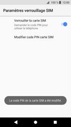 Sony Xperia XZ1 - Sécuriser votre mobile - Personnaliser le code PIN de votre carte SIM - Étape 10