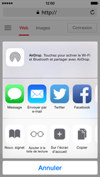 Apple iPhone 5s iOS 8 - Internet et roaming de données - Navigation sur Internet - Étape 7