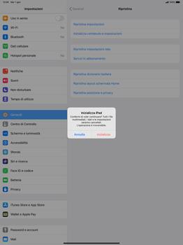 Apple iPad Pro 12.9 (1st gen) - ipados 13 - Dispositivo - Ripristino delle impostazioni originali - Fase 8