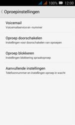 Huawei Y3 - Voicemail - Handmatig instellen - Stap 7