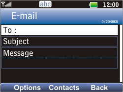 LG C360 Golf - E-mail - Sending emails - Step 5
