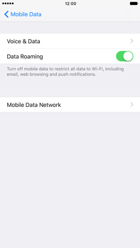 Apple Apple iPhone 6s Plus iOS 10 - Internet - Disable data roaming - Step 5