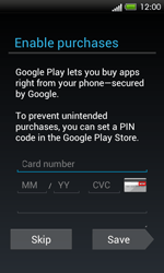 HTC One SV - Applications - Setting up the application store - Step 14