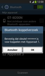 Samsung Galaxy S3 Mini VE (I8200) - Bluetooth - Koppelen met ander apparaat - Stap 7