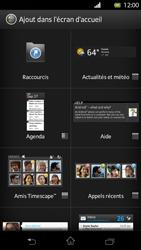 Sony Xperia T - Prise en main - Installation de widgets et d