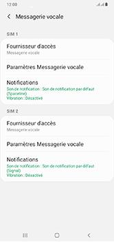 Samsung Galaxy A10 - Messagerie vocale - configuration manuelle - Étape 9