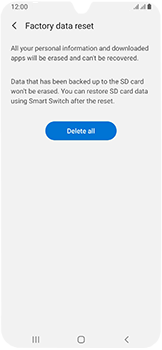 Samsung Galaxy A40 - Device - Factory reset - Step 9