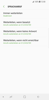 Samsung Galaxy S8 - Android Oreo - Anrufe - Rufumleitungen setzen und löschen - Schritt 9