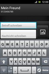 Sony Xperia Miro - MMS - Erstellen und senden - Schritt 12