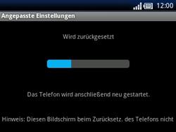 Sony Ericsson Xperia X10 Mini Pro - Fehlerbehebung - Handy zurücksetzen - Schritt 10