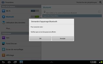 Samsung P5100 Galaxy Tab 2 10-1 - Bluetooth - connexion Bluetooth - Étape 9
