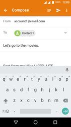 Wiko U-Feel Lite - E-mail - Sending emails - Step 8