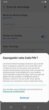 Samsung Galaxy A70 - Sécuriser votre mobile - Activer le code de verrouillage - Étape 12