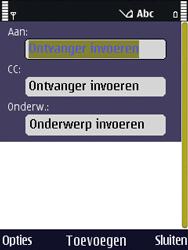 Nokia N86 - E-mail - hoe te versturen - Stap 5