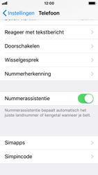 Apple iPhone SE met iOS 11 (Model A1723) - Beveiliging en ouderlijk toezicht - Hoe wijzig ik mijn SIM PIN-code - Stap 4