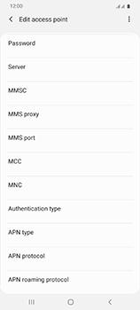 Samsung Galaxy S20 Ultra 5G - Internet and data roaming - Manual configuration - Step 14