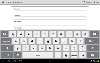 Samsung Galaxy Tab 2 10.1 - E-mail - Manual configuration - Step 7