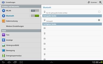 Samsung N8000 Galaxy Note 10-1 - Bluetooth - Geräte koppeln - Schritt 9