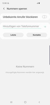 Samsung Galaxy S10 - Anrufe - Anrufe blockieren - Schritt 9
