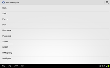 Samsung Galaxy Tab 2 10.1 - Internet and data roaming - Manual configuration - Step 11