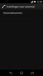 Sony C1905 Xperia M - Voicemail - Handmatig instellen - Stap 7