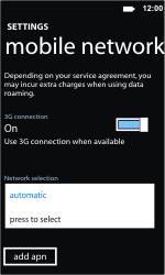 Nokia Lumia 710 - Network - Usage across the border - Step 6