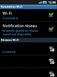 Samsung S5570 Galaxy Mini - Wifi - configuration manuelle - Étape 8