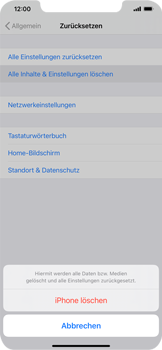 Apple iPhone 12 - Gerät - Zurücksetzen auf die Werkseinstellungen - Schritt 6