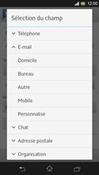 Sony Xpéria SP - Contact, Appels, SMS/MMS - Ajouter un contact - Étape 14
