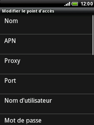 HTC A3333 Wildfire - Internet - configuration manuelle - Étape 9