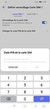 Huawei P30 lite - Sécuriser votre mobile - Personnaliser le code PIN de votre carte SIM - Étape 12