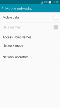Samsung Galaxy Note 4 - Internet and data roaming - How to check if data-connectivity is enabled - Step 6
