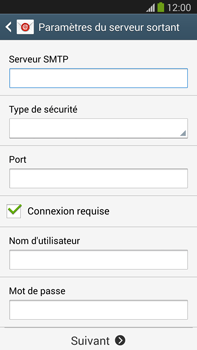 Samsung Galaxy Note III LTE - E-mail - configuration manuelle - Étape 12