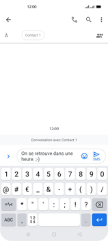 Oppo Reno 4Z - Contact, Appels, SMS/MMS - Envoyer un SMS - Étape 11